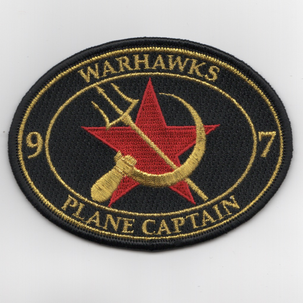 VFA-97 'RED AIR' Plane Captain Patch