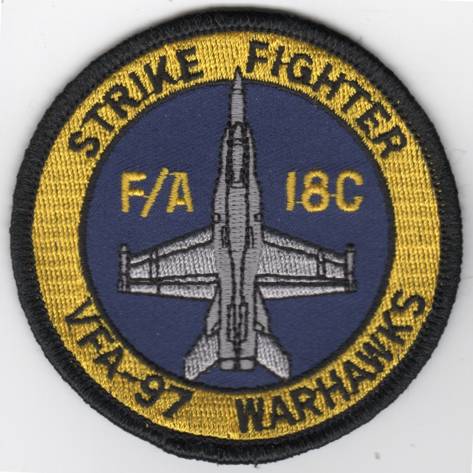 VFA-97 F-18C 'Bullet' Patch (Yellow/Blue)