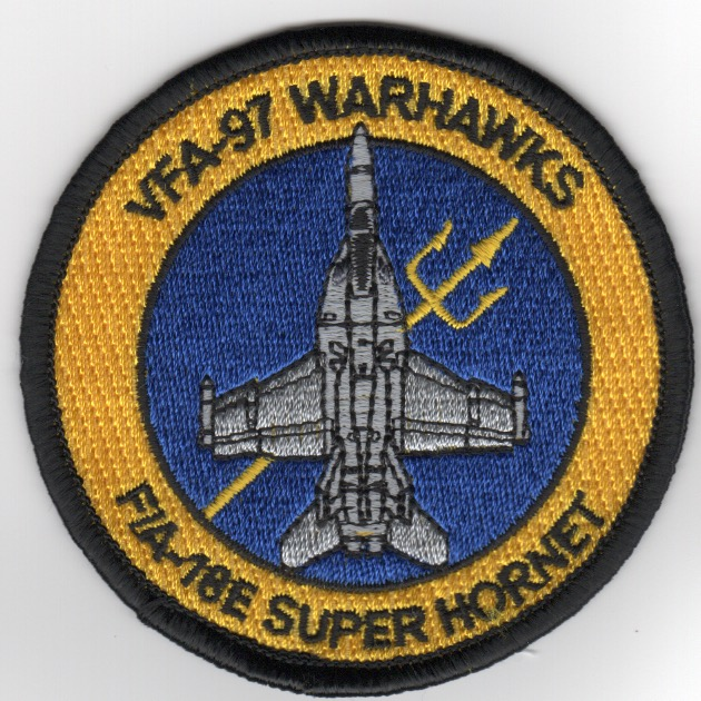 VFA-97 F-18E 'Bullet' Patch (DARK Yellow/Blue)
