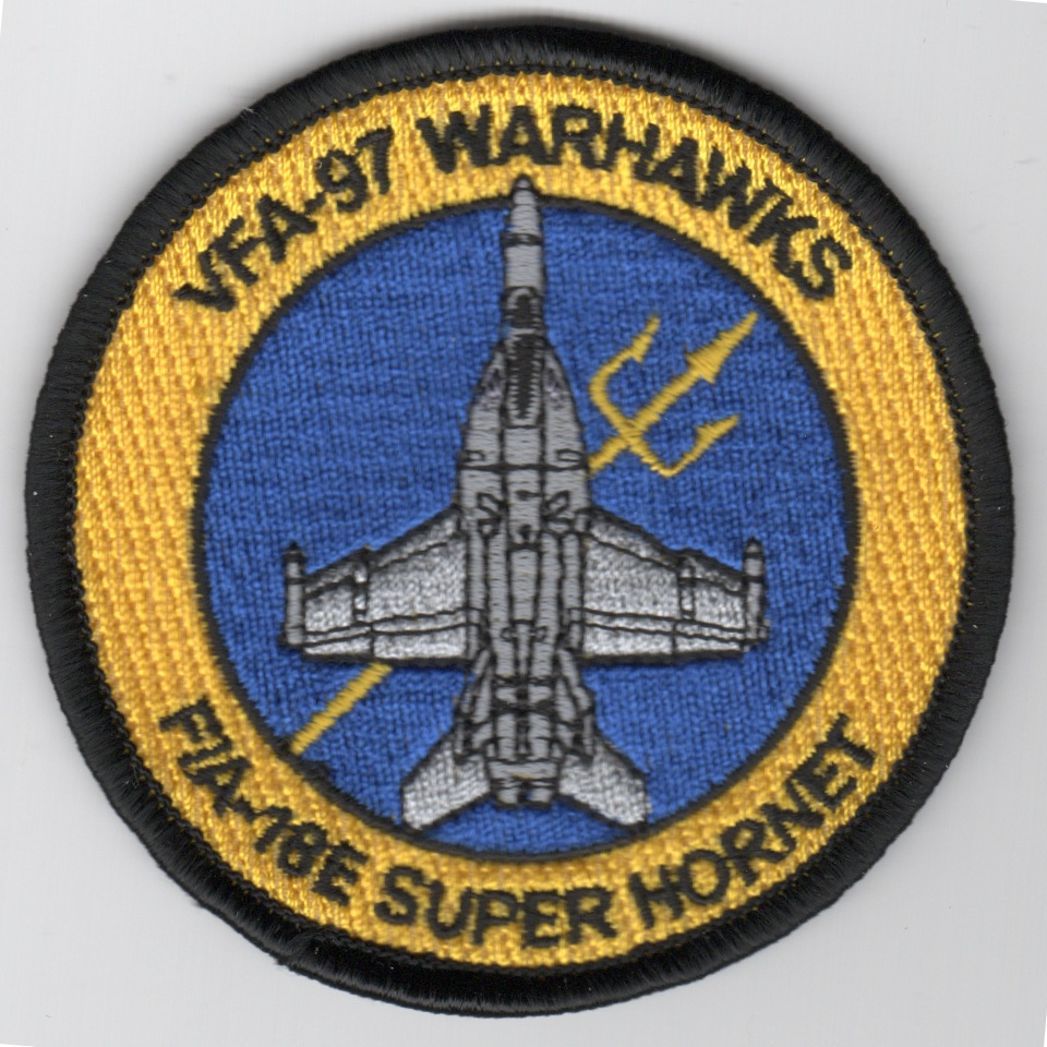 VFA-97 F-18E 'Bullet' Patch (Yellow/Blue)