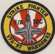 VFA-97 A/C Bullet Patch (Red/White)