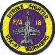 VFA-97 A/C 'Bullet' Patch (Yellow/Purple)