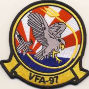 VFA-97 Squadron Patch (Red-White Rays)