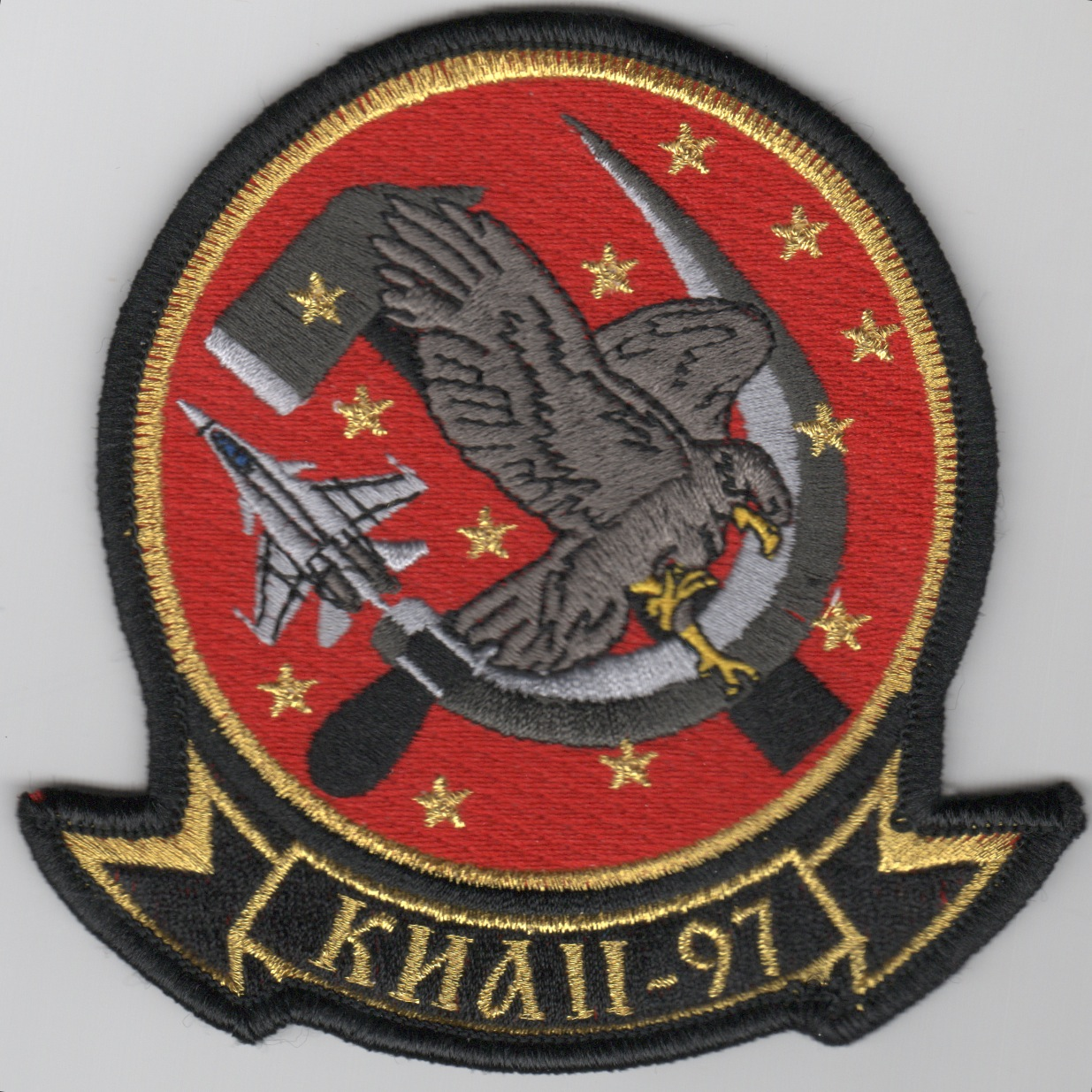 VFA-97 'RED AIR' Squadron Patch (No Velcro)