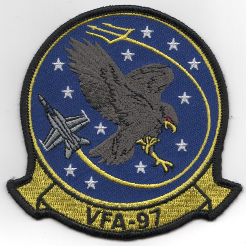 VFA-97 Squadron Patch (LIGHT Yellow)