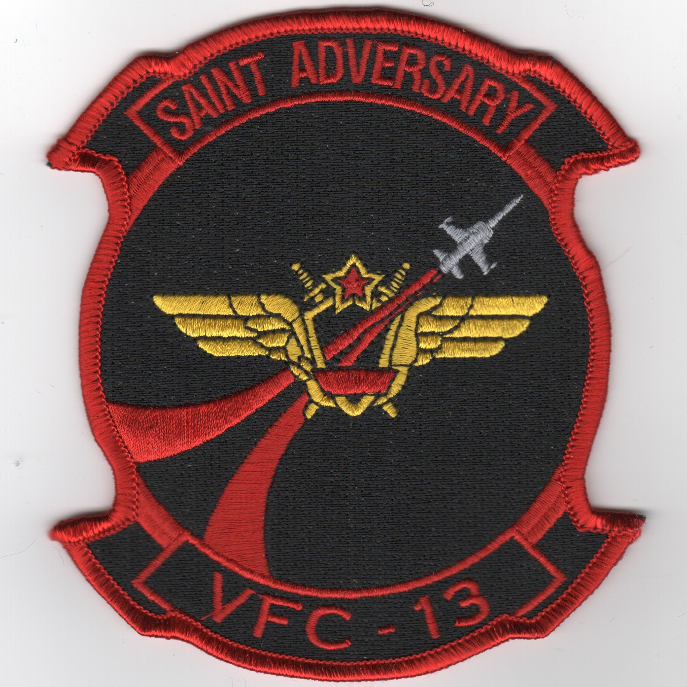 VFC-13 'RED AIR' Squadron Patch (Red/Black)