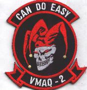 VMAQ-2 'Can Do' (Gray-Skull) Patch