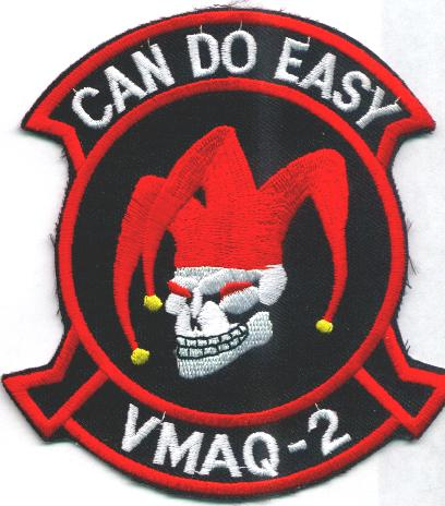VMAQ-2 'Can Do' (White-Skull) Patch