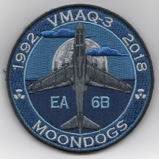 VMAQ-3 'Last Howl/MOONDOWN' Bullet Patch (Blue/Tri)