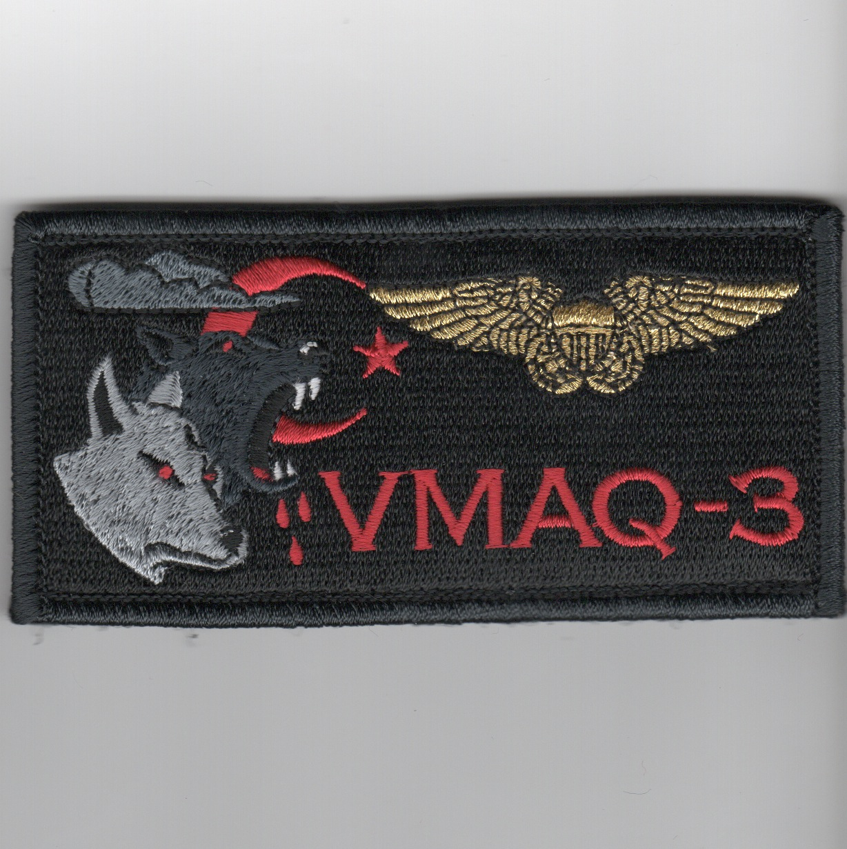 'VMAQ-3' ECMO Nametag (Black)