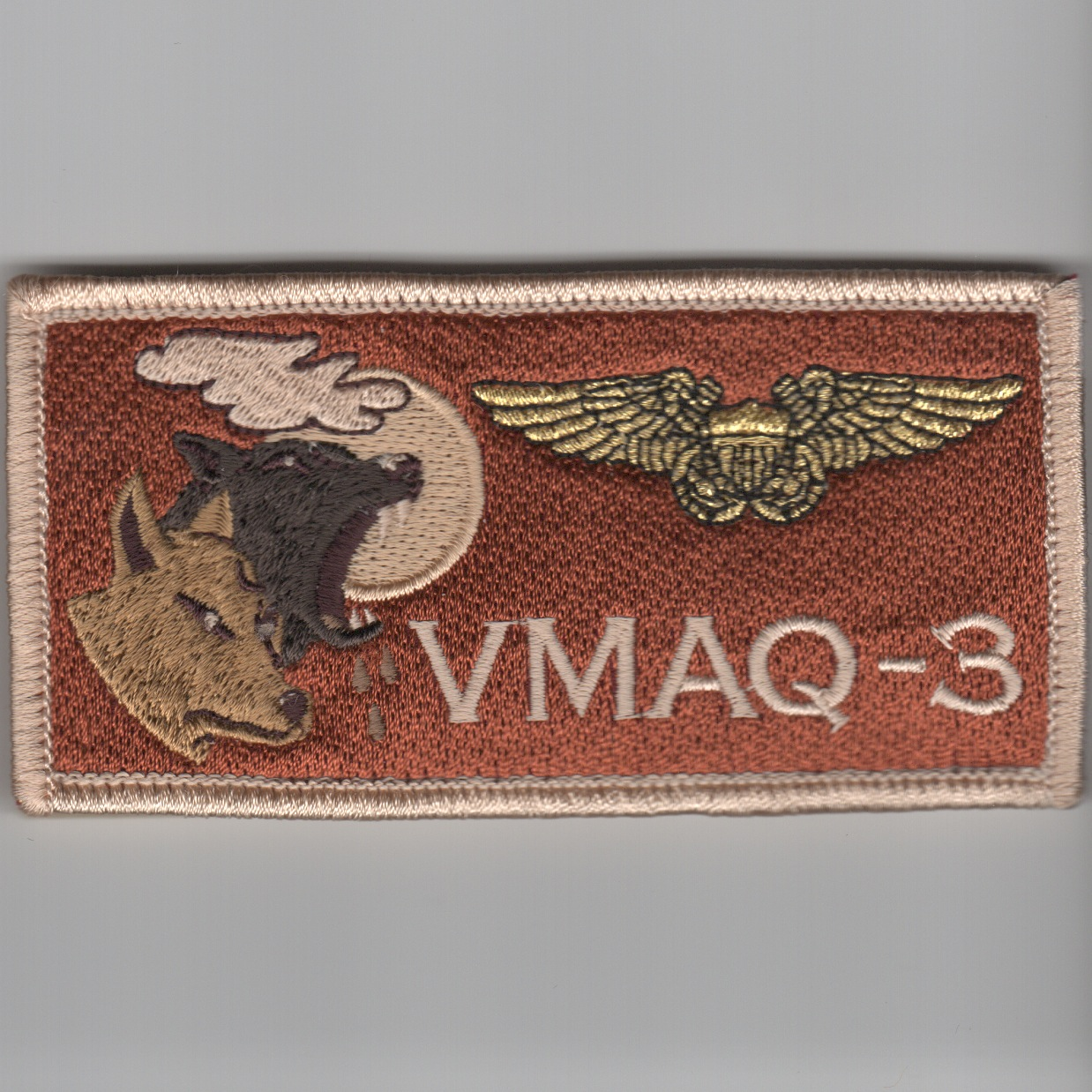 'VMAQ-3' ECMO Nametag ('LIGHT' Des)