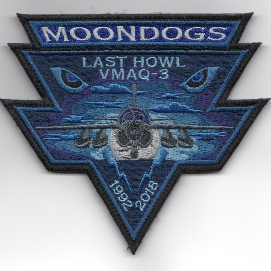VMAQ-3 'Last Howl/MOONDOWN' EYES Patch (Blue/Tri)