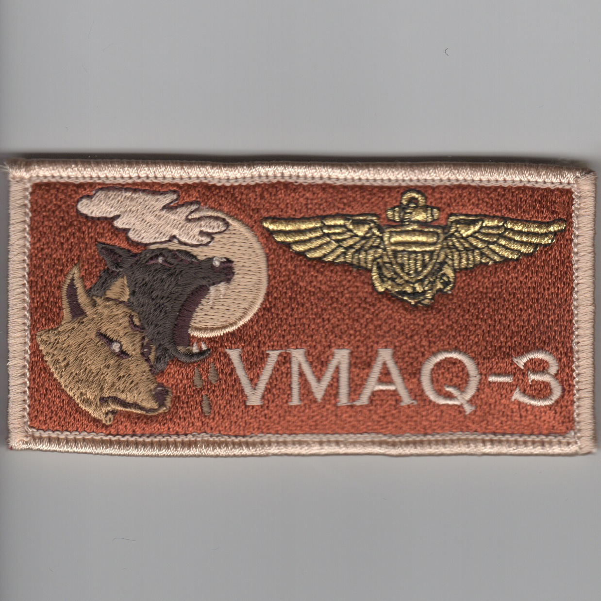 'VMAQ-3' Pilot Nametag ('LIGHT' Des)