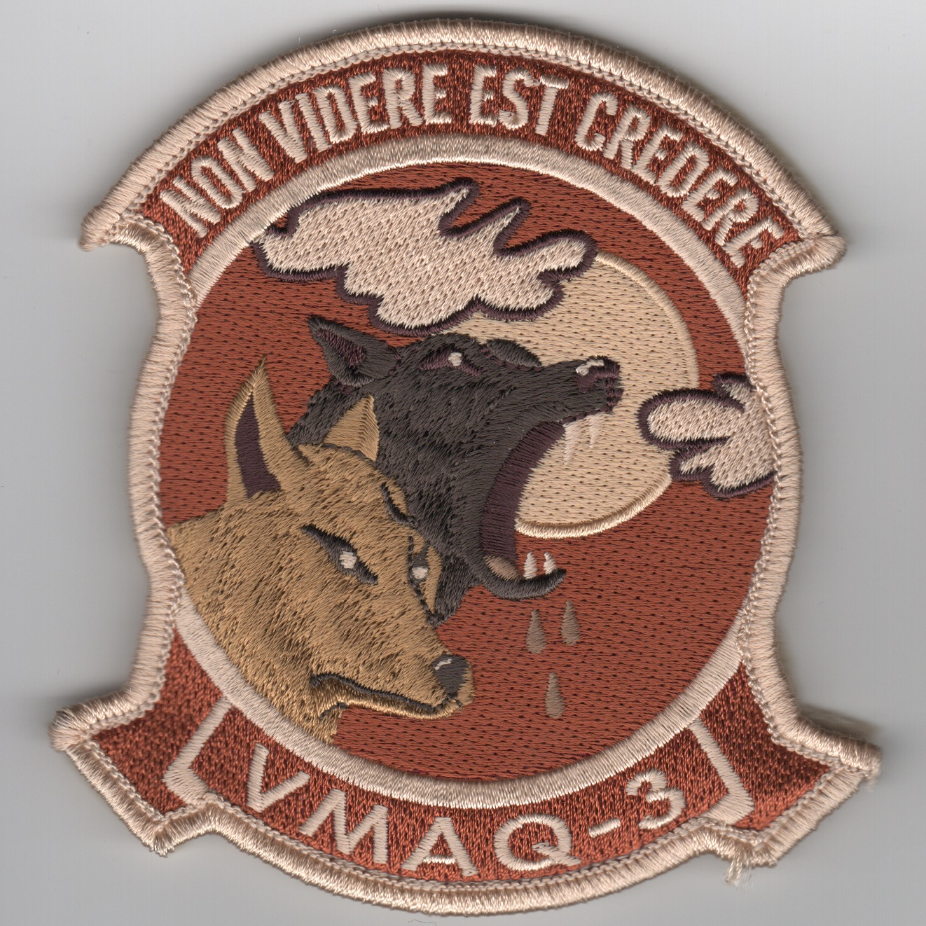 VMAQ-3 Deployed Sqdn Patch ('LIGHT' Des/Furry Wolves)