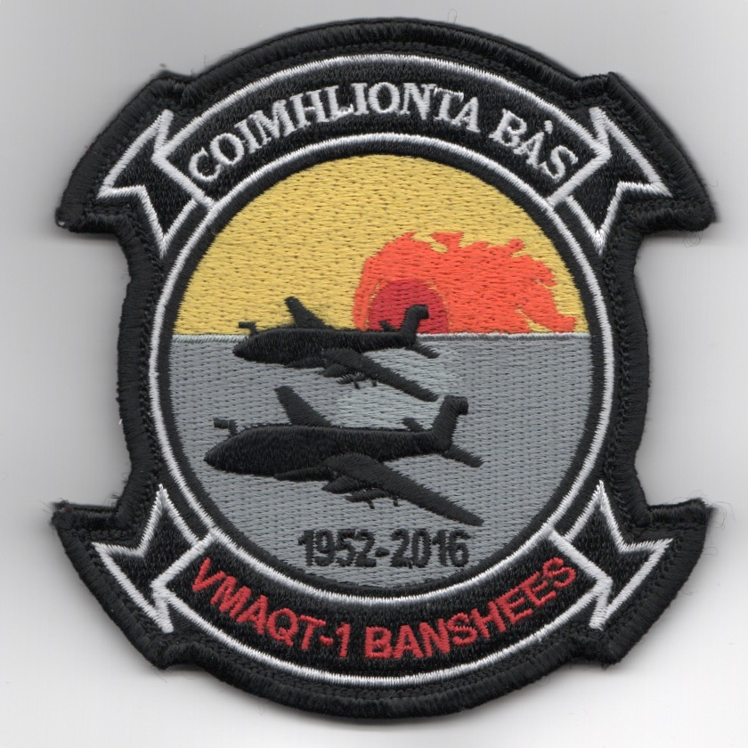VMAQ-1 'Decommission' Squadron Patch