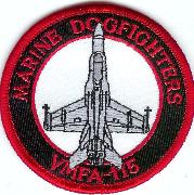 VMFA-115 Aircraft Patch (Red)
