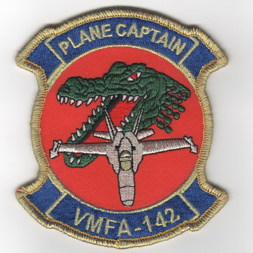 VMFA-142 'Plane Captain' Patch (Gold Border)
