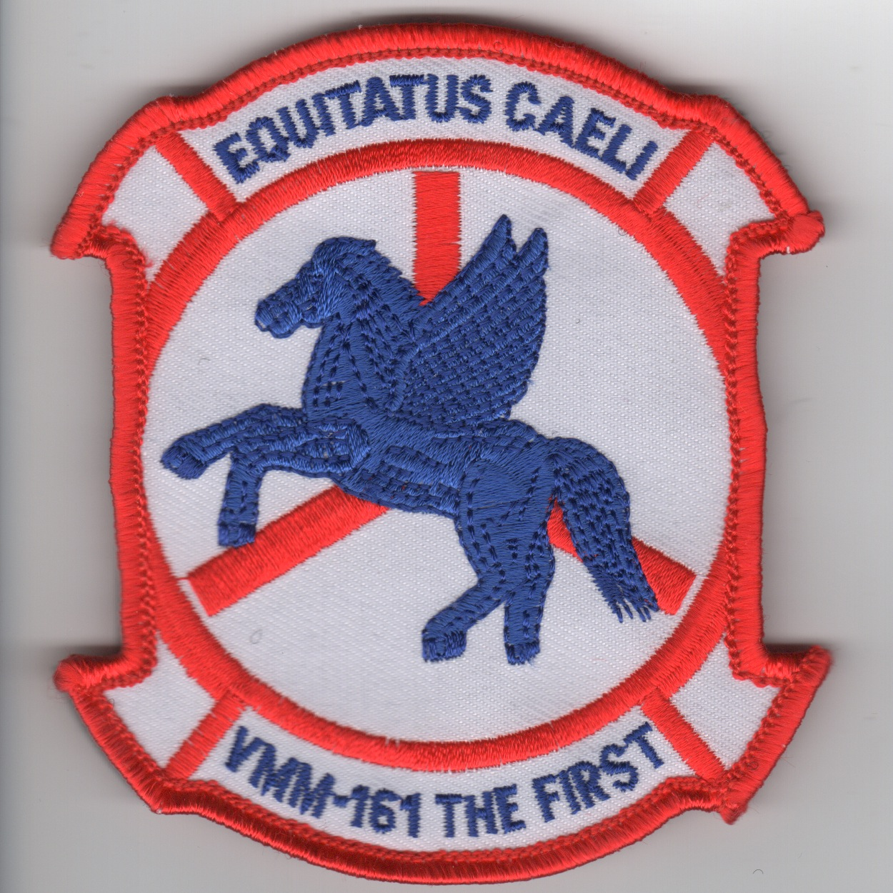 VMM-161 Squadron Patch (Red/White)