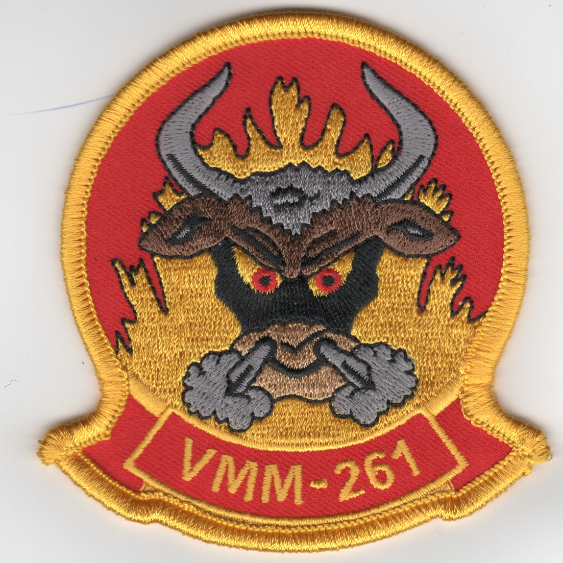 VMM-261 Squadron Patch (Red/Yellow)