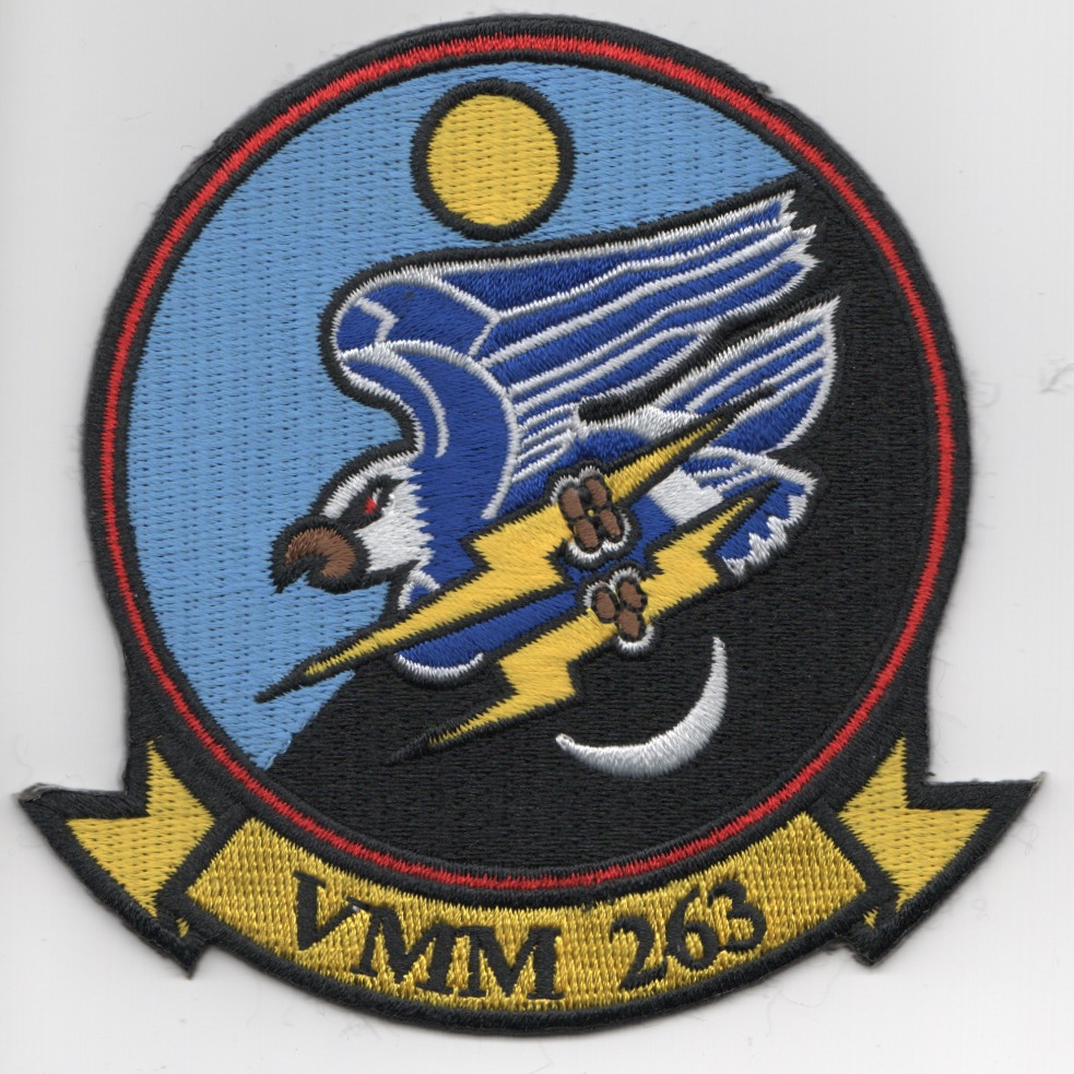 VMM-263 Squadron Patch (Yellow Tab/No 'REIN')