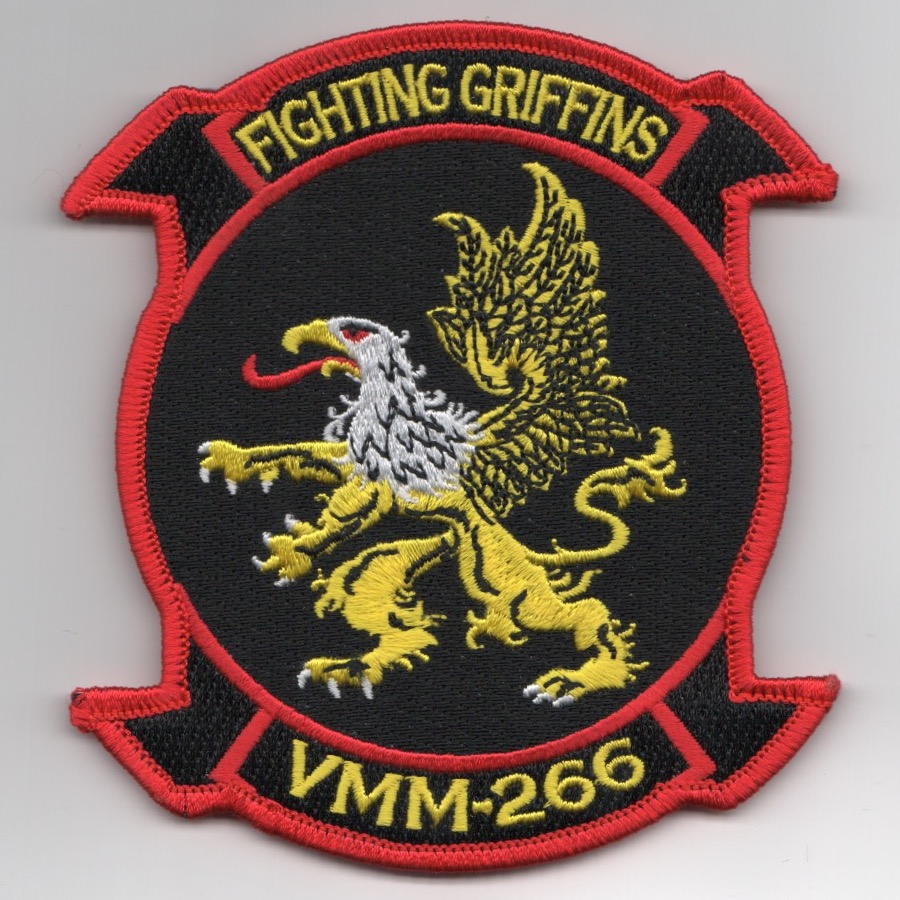 VMM-266 Squadron Patch (Red/Black)