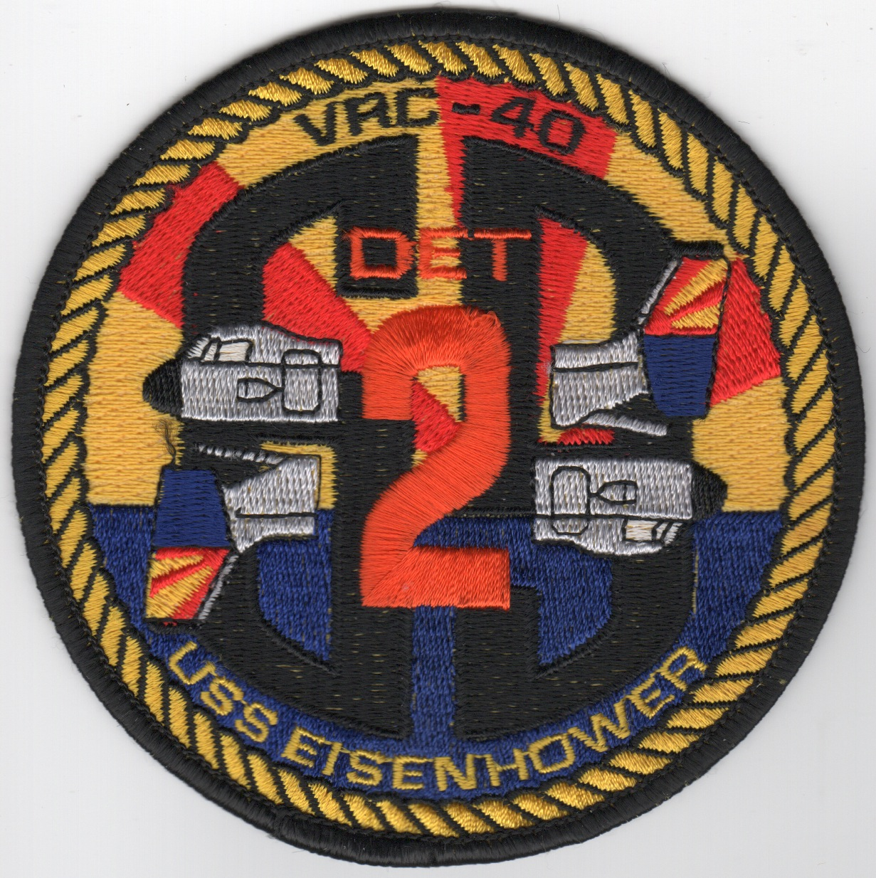 VRC-40 Det-2 (Red/Yellow Rays) Patch