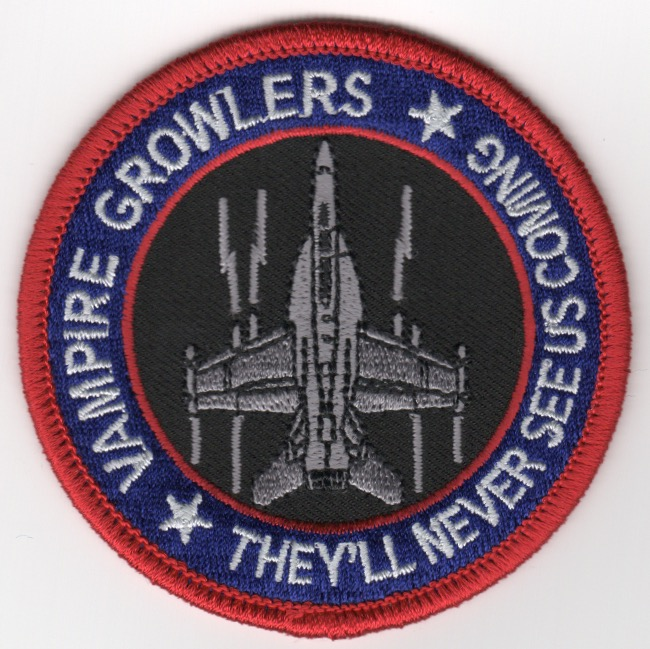 VX-9 F-18 'Never See Us' Bullet Patch (Red Border)
