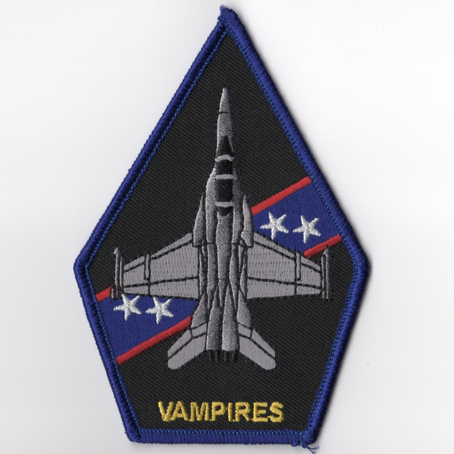 VX-9 F-18 'Vampires' Coffin Patch (Blue/Black)