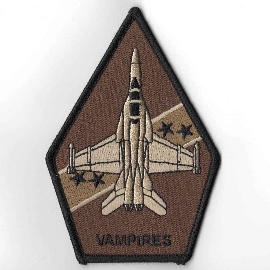 VX-9 F-18 'Vampires' Coffin Patch (Des/Black)