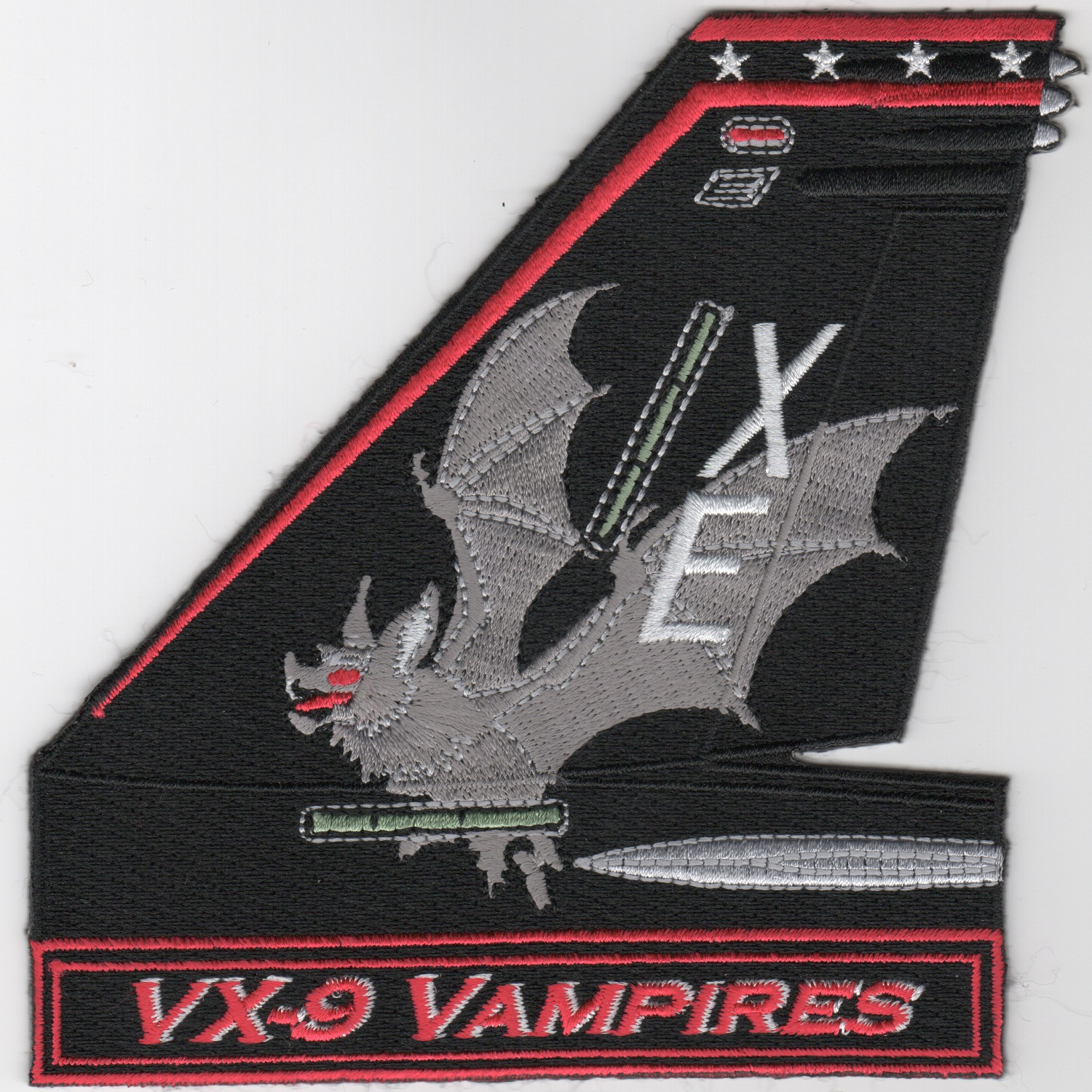 VX-9 F-18 TailFin (Gray Bat/Text)